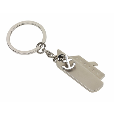 Picture of CRUISER SILVER METAL SHIP BOAT KEYRING