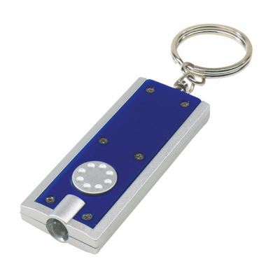 Picture of LED LIGHT KEYRING in Blue & Silver
