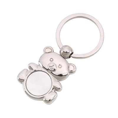 Picture of TED SILVER METAL TEDDY BEAR KEYRING