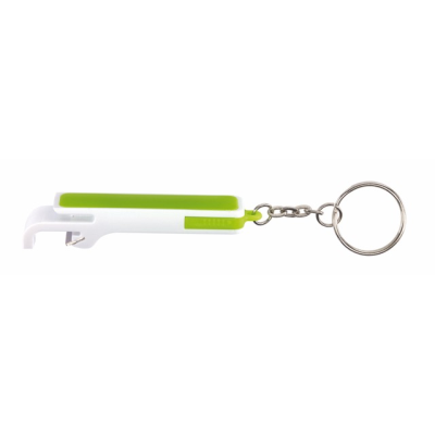Picture of DOUBLE OP BOTTLE OPENER in White & Green