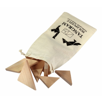Picture of WOOD TANGRAM TRIANGULAR PUZZLE
