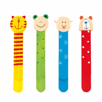 Picture of FUNNY ANIMALS 4 PIECE CHILDRENS BOOKMARK SET