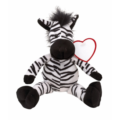 Picture of LORENZO PLUSH ZEBRA SOFT TOY in Black & White
