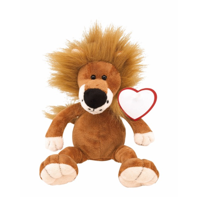 Picture of FETZY PLUSH LION SOFT TOY in Brown & White