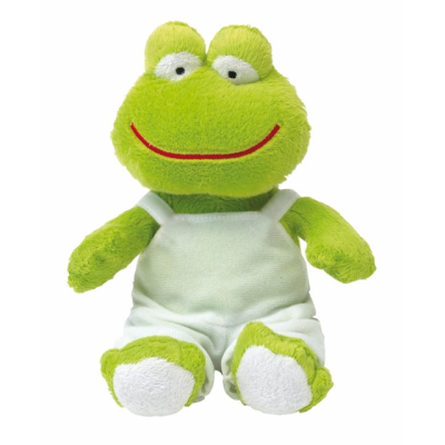 Picture of PLUSH SOFT TOY FROG in Green & White