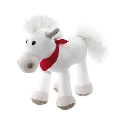 Picture of JONNY PLUSH HORSE in White