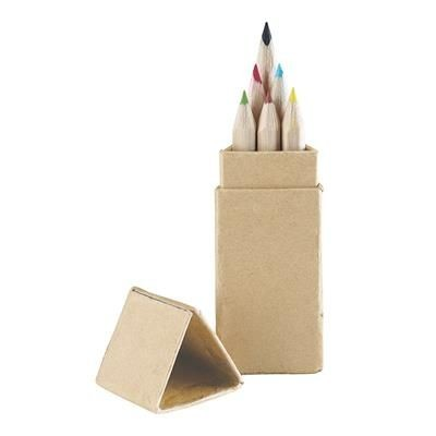 Picture of TRIANGULAR COLOURING PENCIL SET in Natural Wood