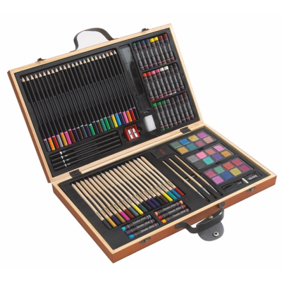 Picture of 88 PIECE ART COLOURING SET in Wood Box