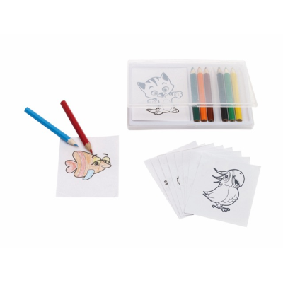 Picture of CRAZY ANIMALS COLOURING PENCIL SET