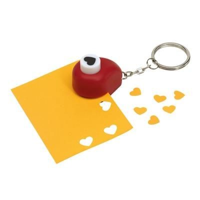 Picture of RED HEART-SHAPED PAPER PUNCH with Keyring