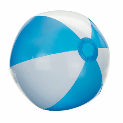 Picture of ATLANTIC INFLATABLE BEACH BALL in White & Turquoise