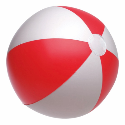 Picture of INFLATABLE BEACH BALL in Red & White