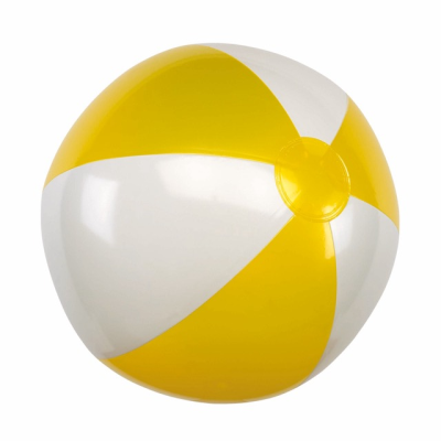 Picture of INFLATABLE BEACH BALL in Yellow & White