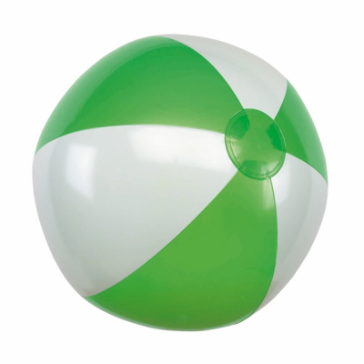 Picture of INFLATABLE BEACH BALL in Green & White