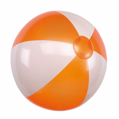 Picture of INFLATABLE BEACH BALL in Orange & White