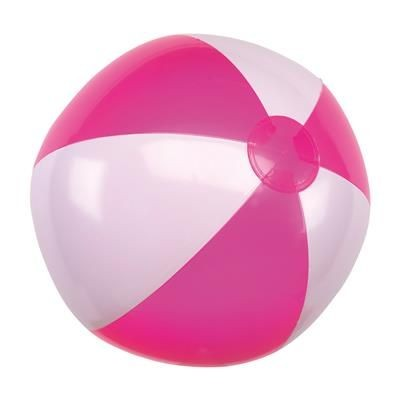 Picture of INFLATABLE BEACH BALL in Pink & White