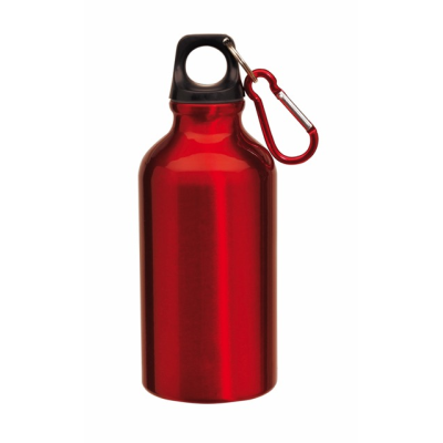 Picture of TRANSIT ALUMINIUM METAL SPORTS DRINK BOTTLE in Red