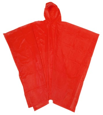 Picture of ALWAYS PROTECT RAIN PONCHO with Hood in Red
