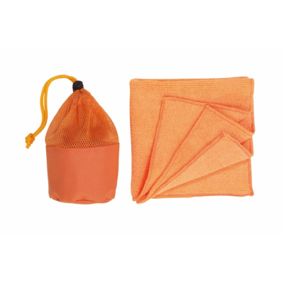 Picture of CLEANER MICROFIBRE TOWEL in Bag in Orange