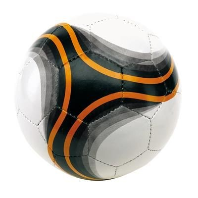 Picture of ARENA FOOTBALL BALL in White Black & Orange