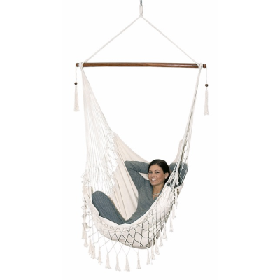 Picture of HANGING HAMMOCK CHAIR in Natural Cotton
