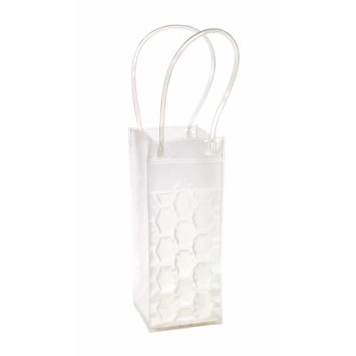 Picture of ICE CUBE BOTTLE COOL BAG in Translucent Clear Transparent