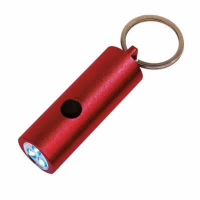 Picture of LITTLE LIGHTNING METAL LED TORCH KEYRING in Red