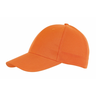 PITCHER 6-PANEL CAP with Mesh in Orange