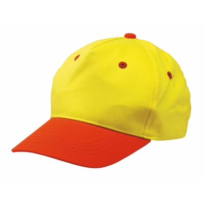 Picture of CHILDRENS BASEBALL CAP in Yellow & Orange