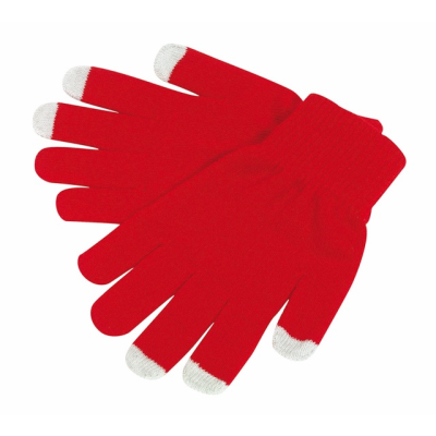 Picture of OPERATE TOUCH SCREEN GLOVES in Red