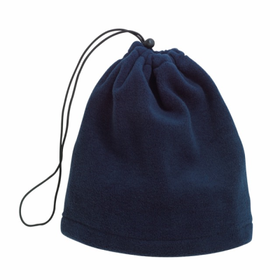 Picture of VARIOUS 2-IN-1 FLEECE SCARF & CAP in Navy Blue