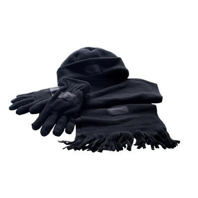 Picture of SOFT FLEECE WINTER SET in Black