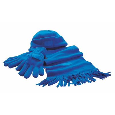 Picture of SOFT FLEECE WINTER SET in Royal Blue