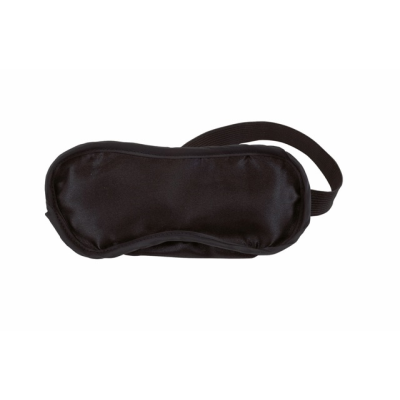 Picture of EYE MASK in Navy Black Satin Polyester