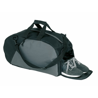 Picture of RELAX SMALL SPORTS BAG in Black & Grey