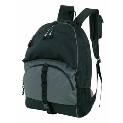 Picture of RELAX BACKPACK RUCKSACK BAG in Black & Grey