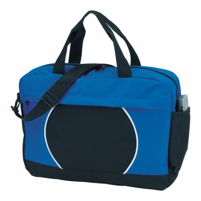 Picture of 600D DOCUMENT BAG in Black & Royal Blue