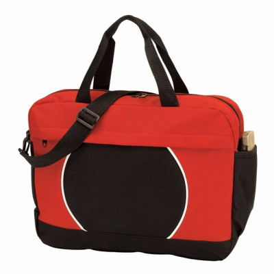 Picture of 600D DOCUMENT BAG in Black & Red