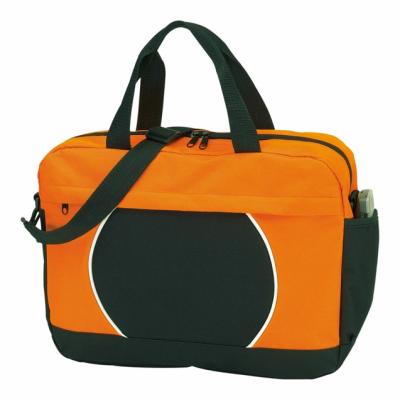 Picture of 600D DOCUMENT BAG in Black & Orange