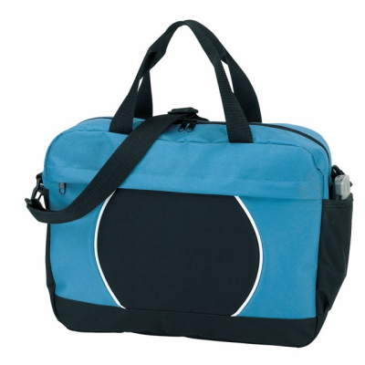 Picture of 600D DOCUMENT BAG in Black & Light Blue