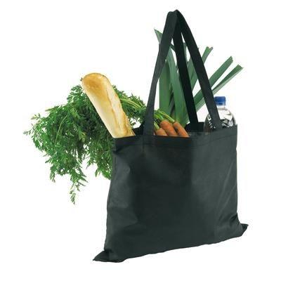 Picture of SHOULDER SHOPPER TOTE BAG in Black