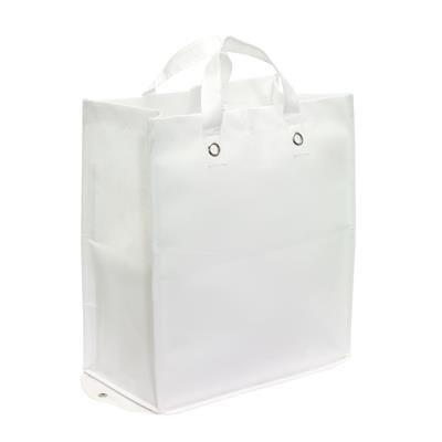 PALMA FOLDING SHOPPER TOTE BAG in White