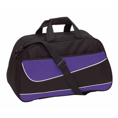 Picture of PEP SPORTS BAG HOLDALL in Black & Purple