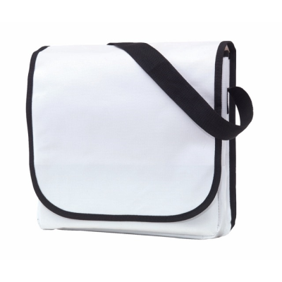 Picture of CLEVER SHOULDER DOCUMENT BAG in White