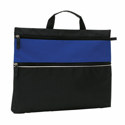 Picture of FILE DOCUMENT BUSINESS BAG in Black & Blue