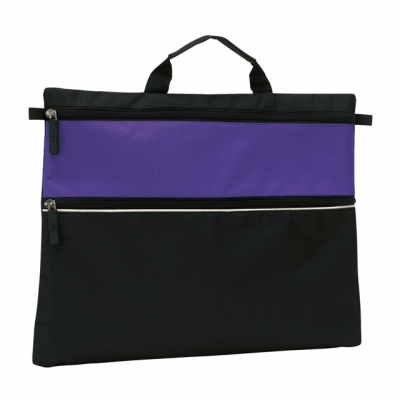 Picture of FILE DOCUMENT BUSINESS BAG in Purple & Black