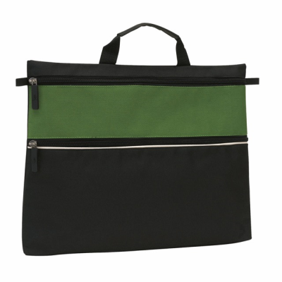 Picture of FILE DOCUMENT BUSINESS BAG in Black & Green