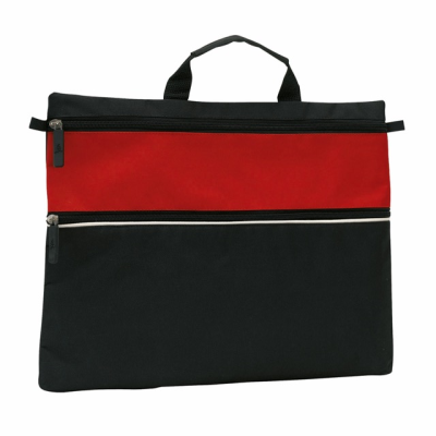 Picture of FILE DOCUMENT BUSINESS BAG in Black & Red