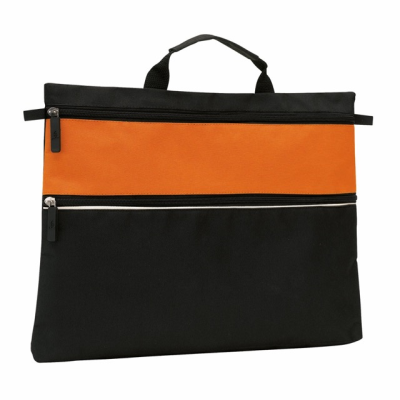 Picture of FILE DOCUMENT BUSINESS BAG in Orange & Black