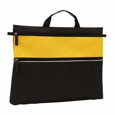 Picture of FILE DOCUMENT BUSINESS BAG in Yellow & Black